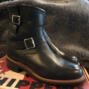 New Chippewa Black Whirlwind Leather Boots